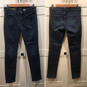J. Crew Toothpick Skinny Jeans 26 dark wash